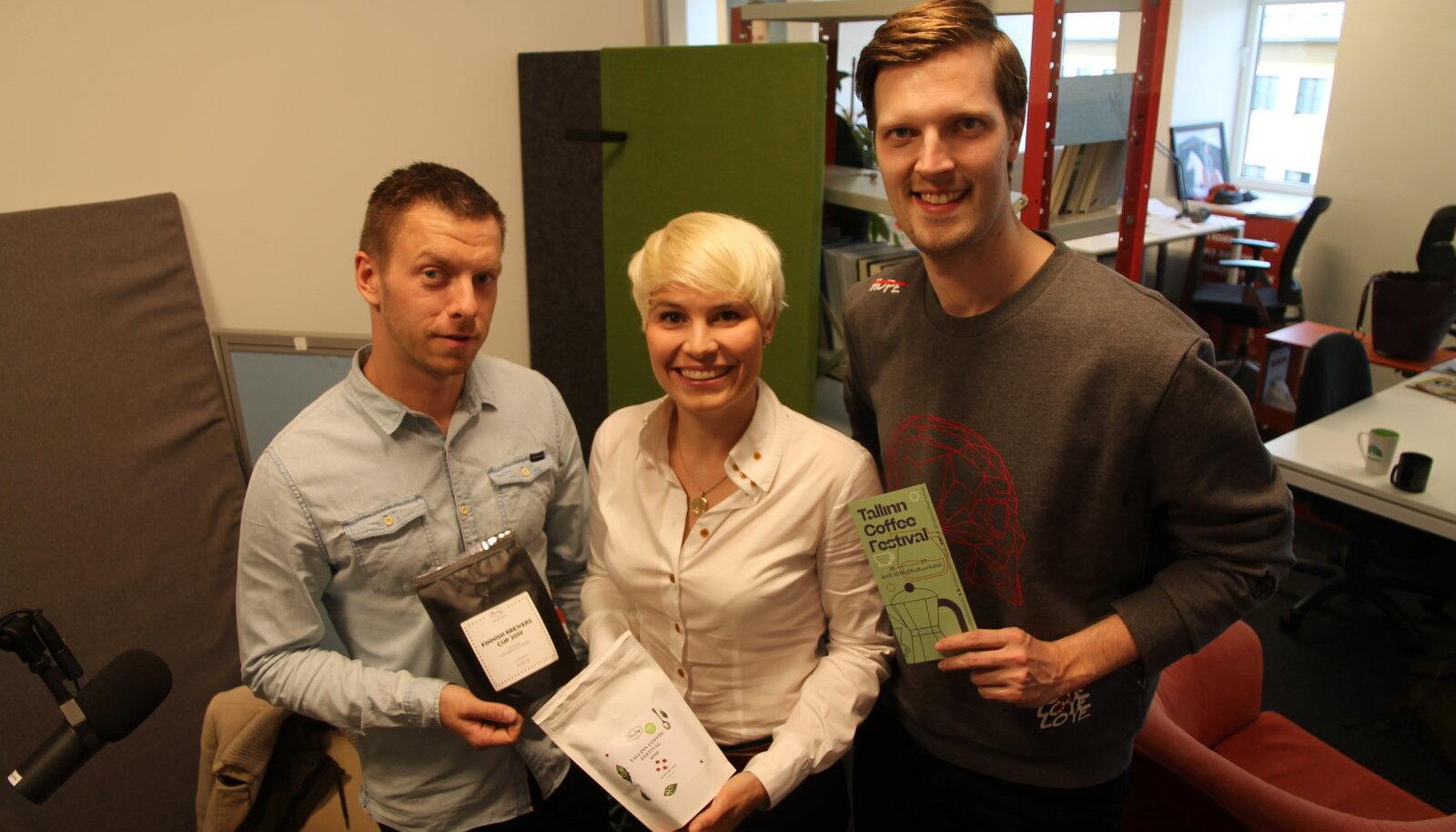 Mihkel Jürimaa, Marta Piigli ja Kennet Sarv.