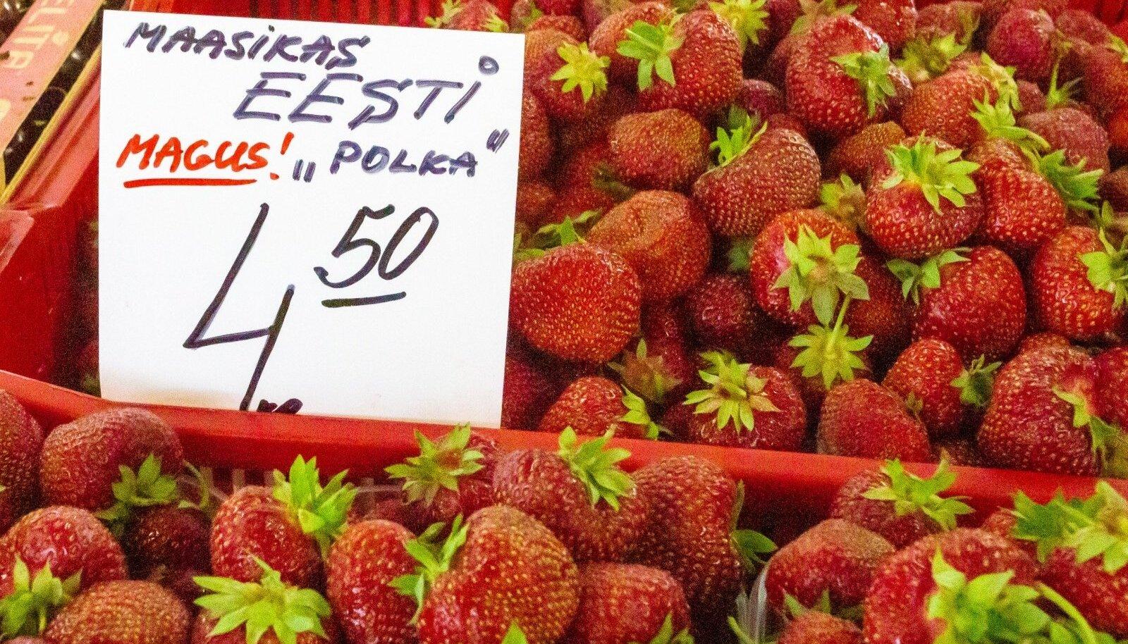 Pärast Maalehe maasikalugusid hakati turgudel usinamalt kirja panema marjade päritolu.