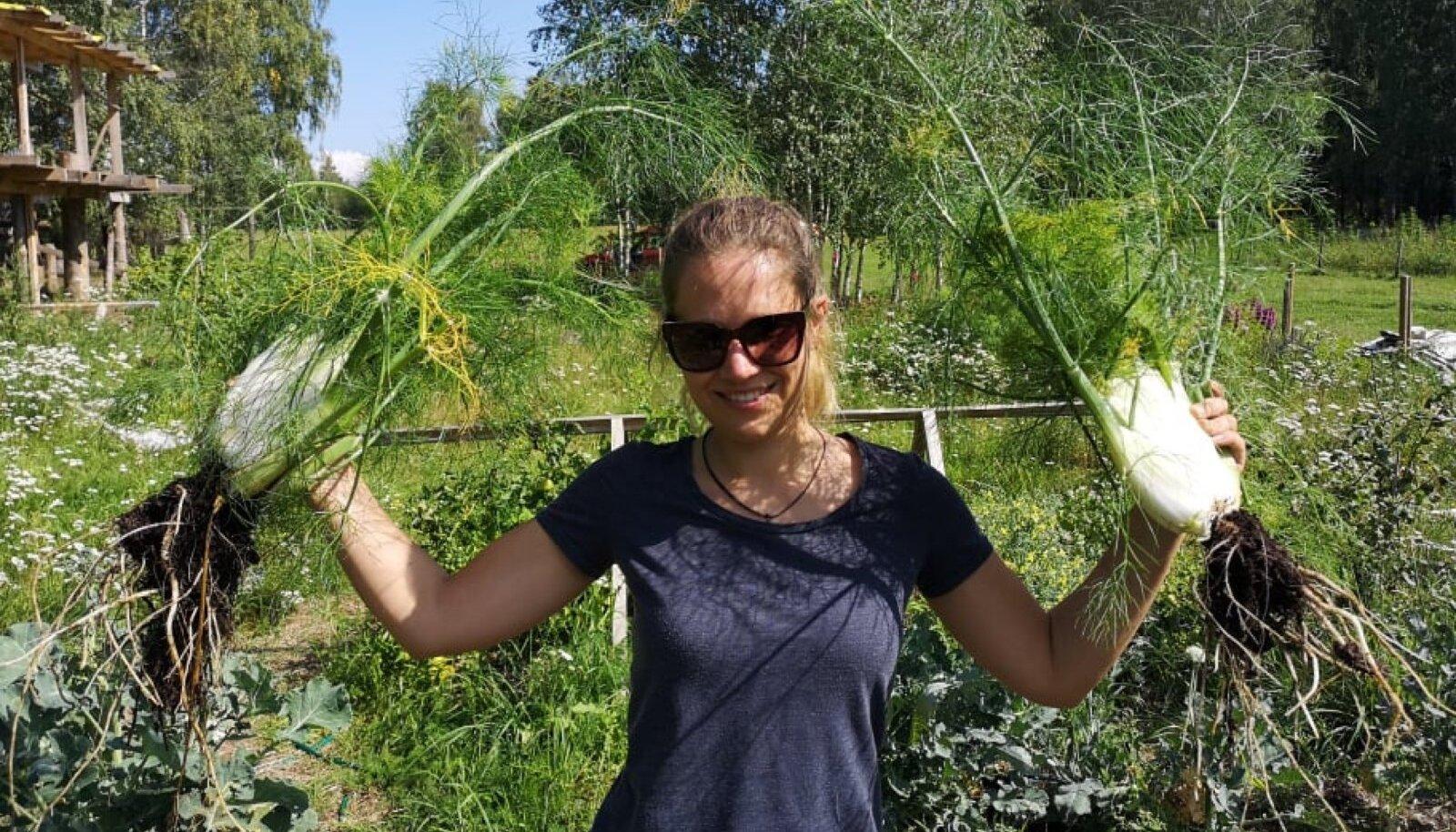 Laura Truija Setomaal sõbra aias