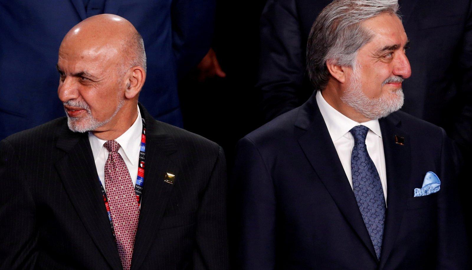Ashraf Ghani (vasakul) ja Abdullah Abdullah 2016. aastal Varssavis NATO tippkohtumisel