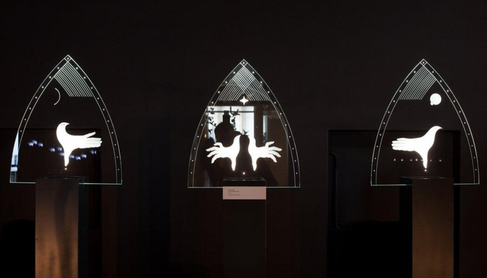 Eesti Klaasikunstnike Ühenduse aastanäituse avamine Rakvere pangahoones