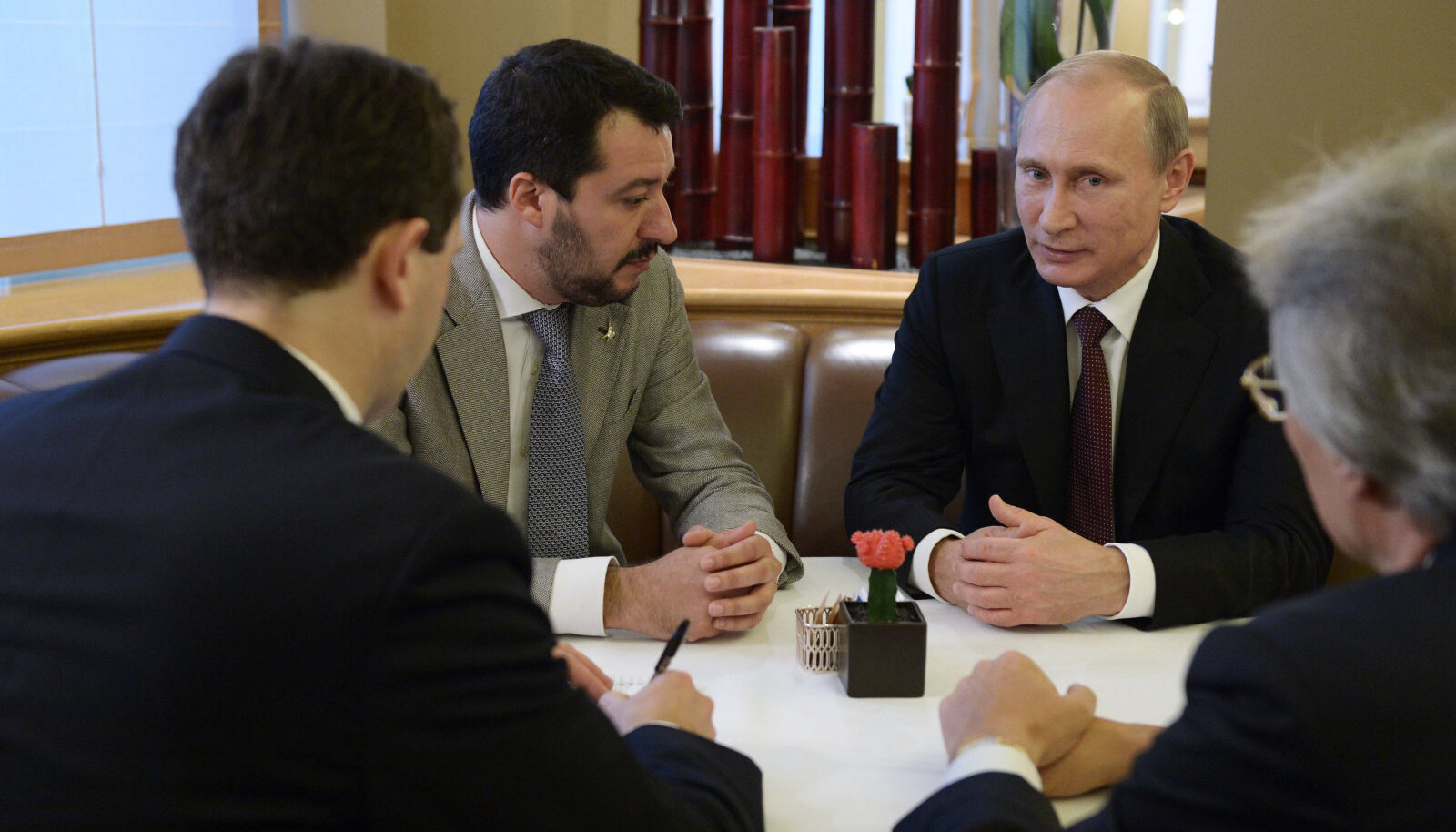 Matteo Salvini ja Valdimir Putin kohtumisel
