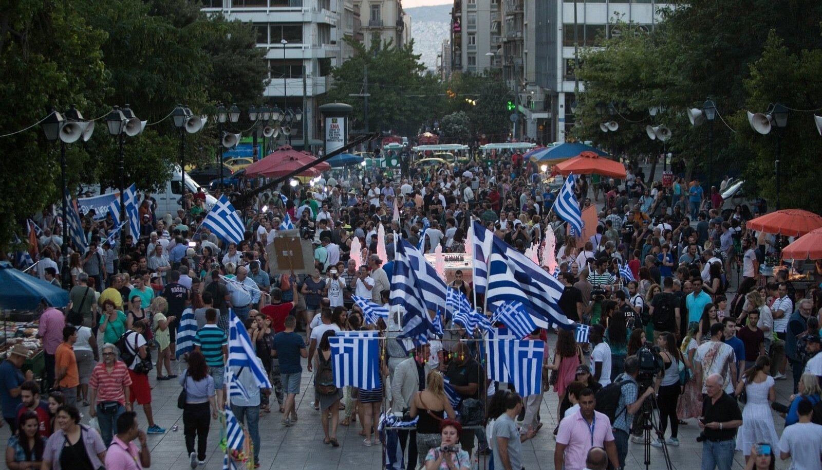 EI tähistamine Ateena keskväljakul