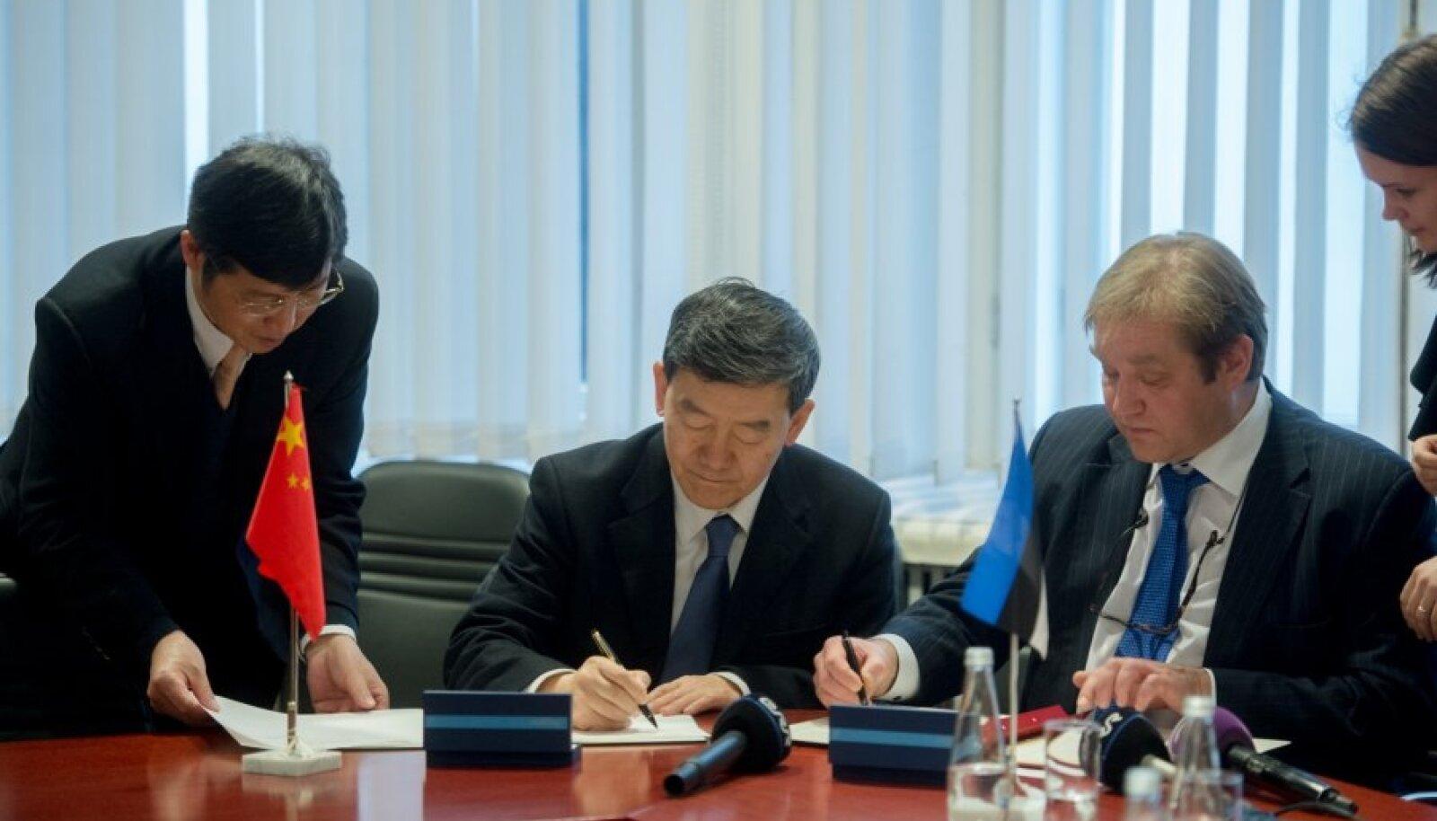 Hiina asepõllumajandusminister Niu Dun  kohtub Ivari Padariga