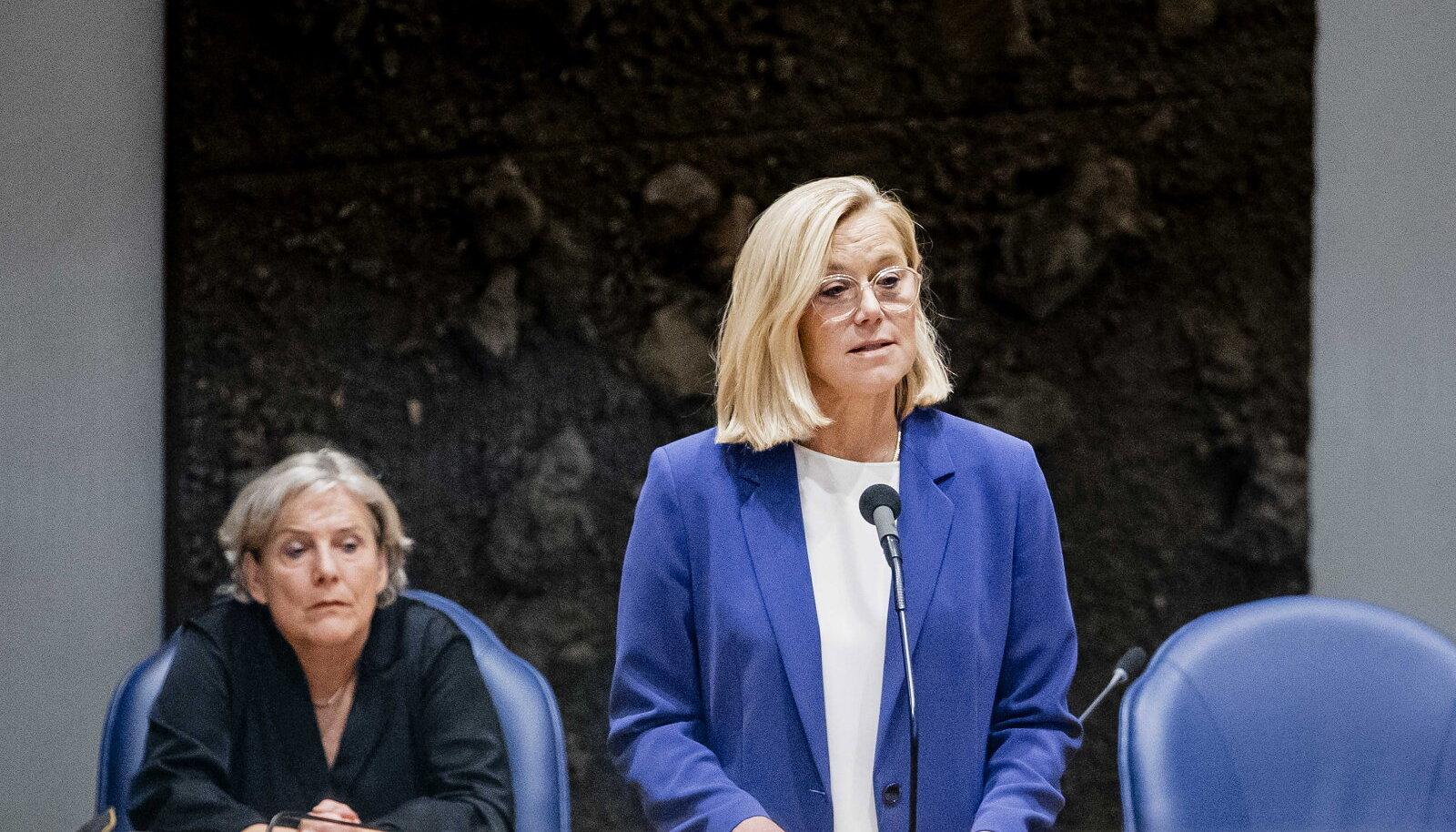 Hollandi väliminister Sigrid Kaag teatas eile parlamendis, et astub tagasi.