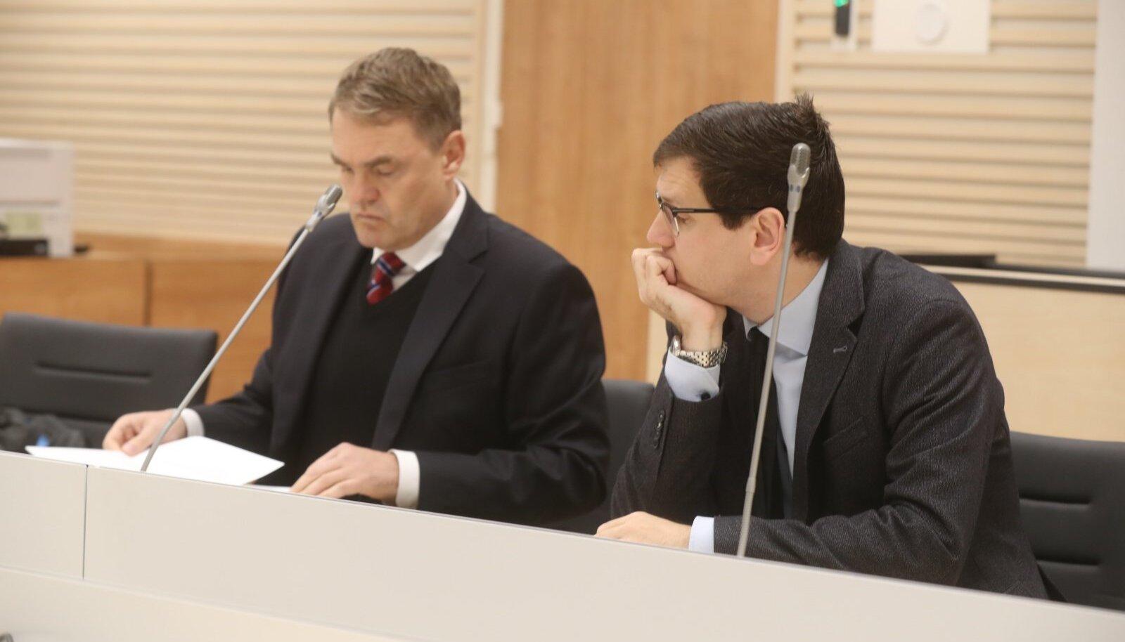 Raul Ainla vasakul, Peeter Helme paremal