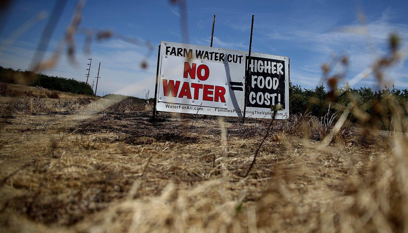 Californias kestis äärmiselt kuiv periood 2011. aasta detsembrist mullu märtsini, see ei lasknud põllumeestel vilja kasvatada ja põhjustas muid hädasid.