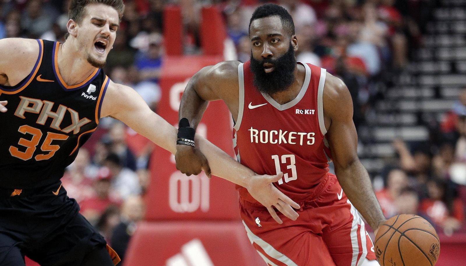 James Harden oli Phoenix Sunsi vastu pidurdamatus hoos