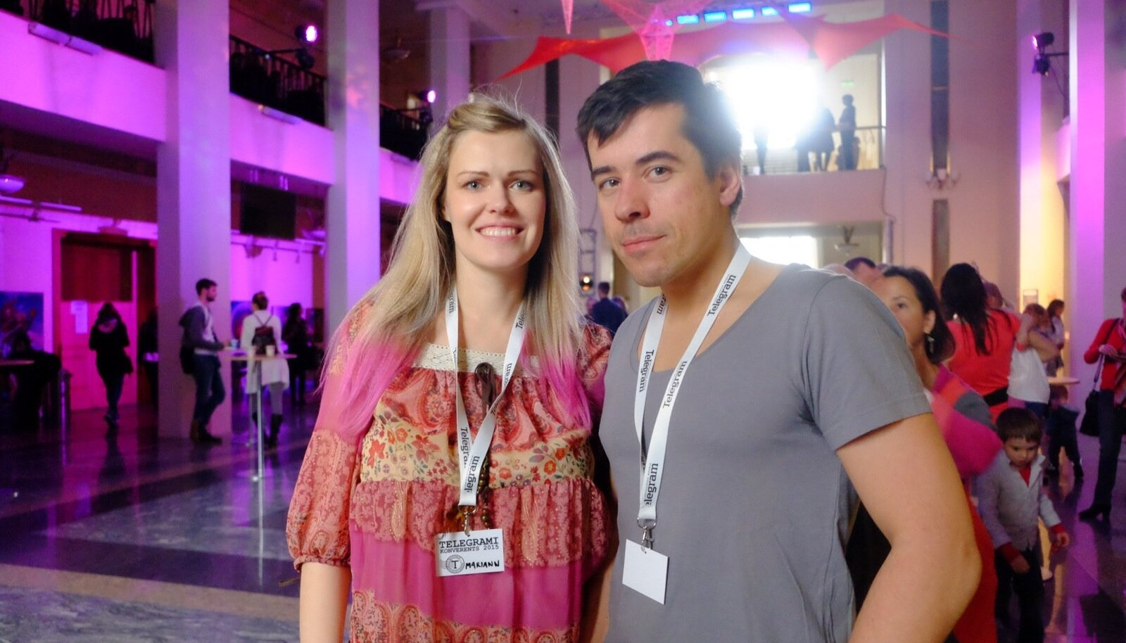 Telegrami konverents Salme kultuurikeskuses, Mariann Joonas ja Hando Tõnumaa