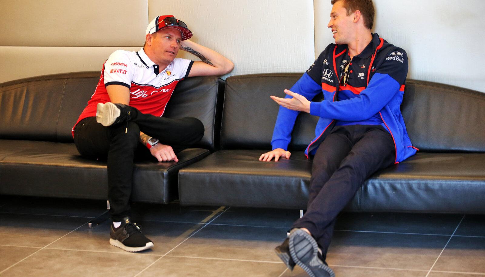 Kimi Räikkönen ja Pierre Gasly (Toro Rosso)