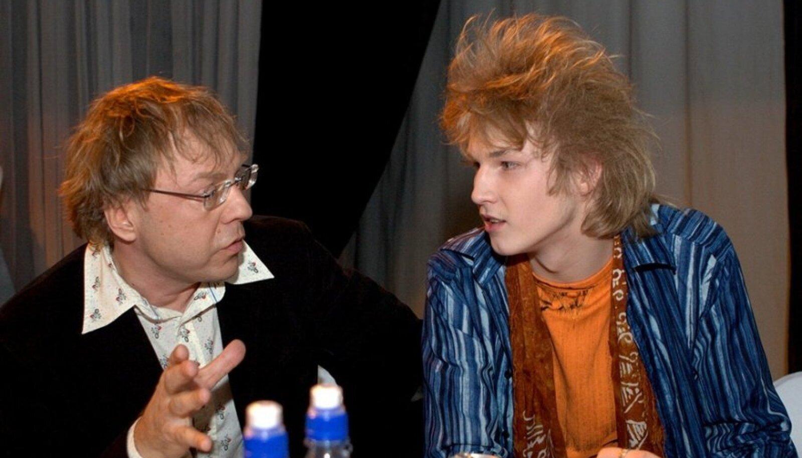 Ajarännak: Rein Rannap ja Taavi Peterson 2008.aastal Eesti laulu stuudios