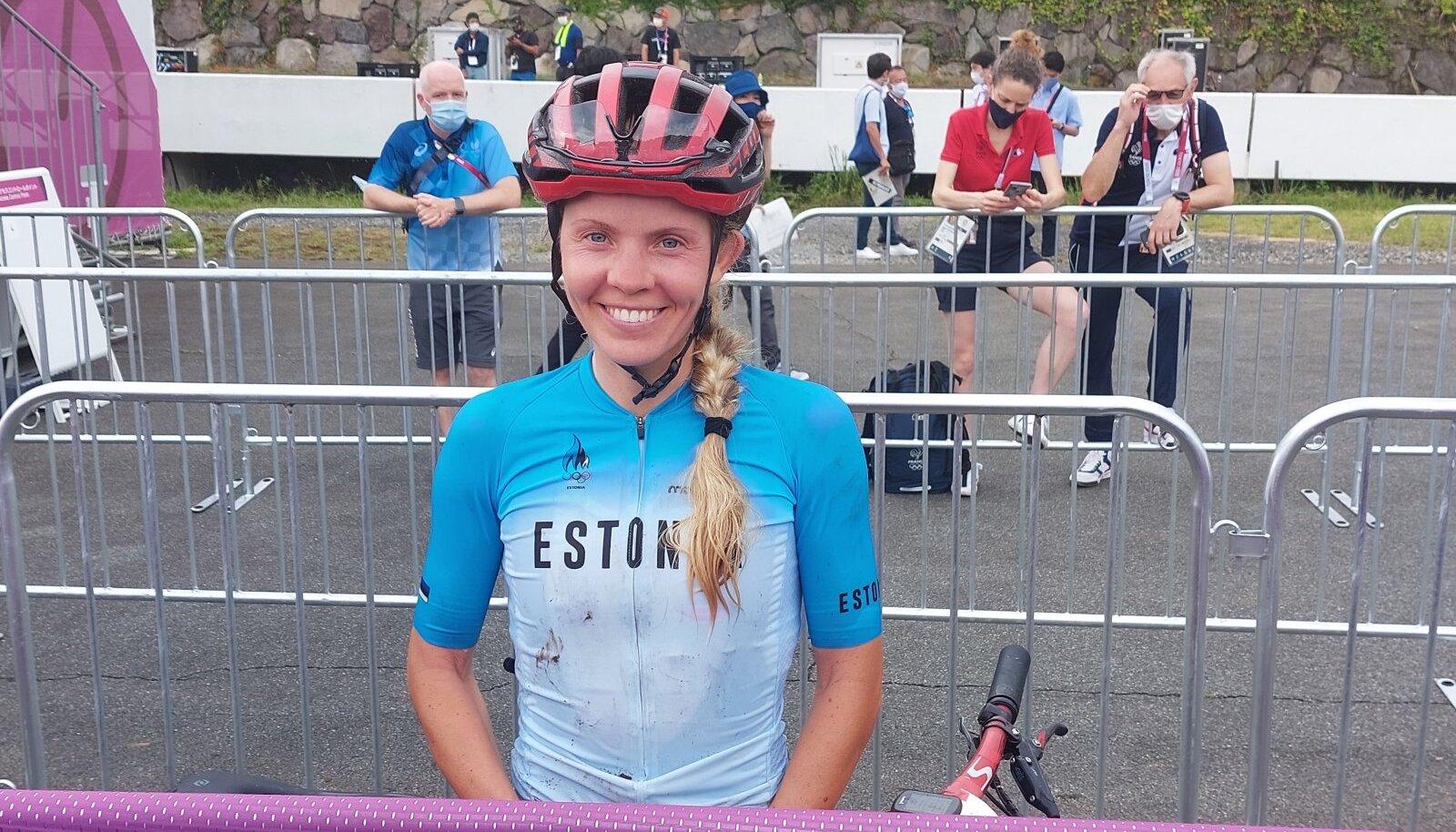 Raske nädal vajutas Janika Lõivu esitusele pitseri. Naeratus näitab, et olümpiadebüüt ei läinud siiski luhta.