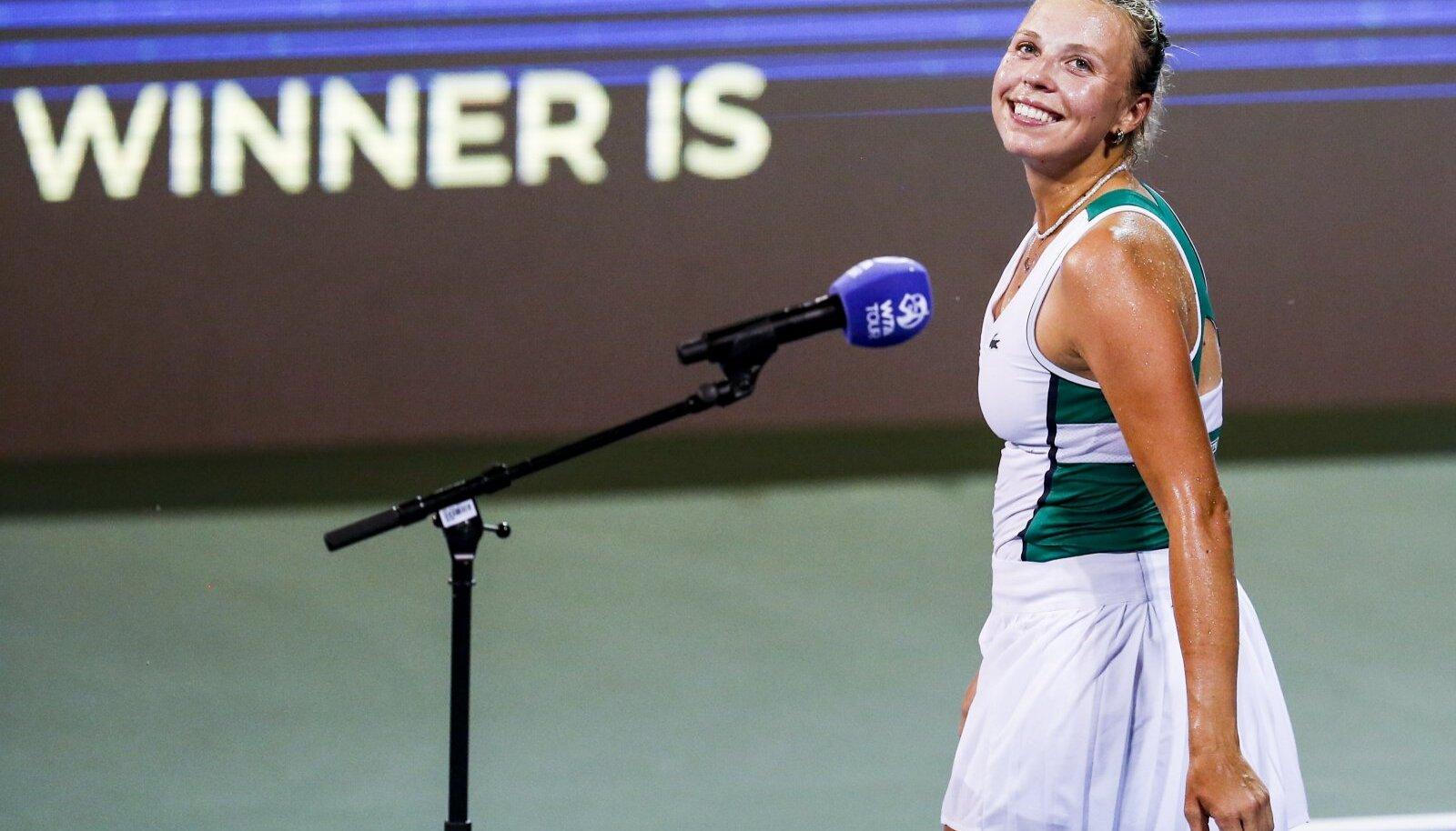 Anett Kontaveit on Clevelandis näidanud väga head tennist.
