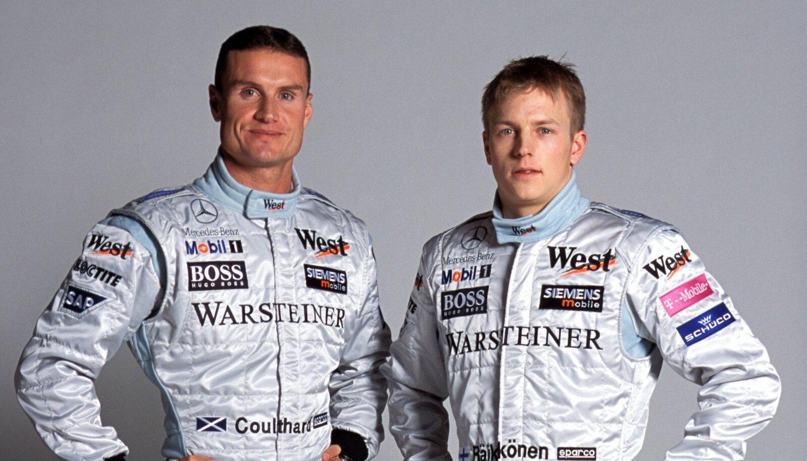 David Coulthard ja Kimi Räikkönen