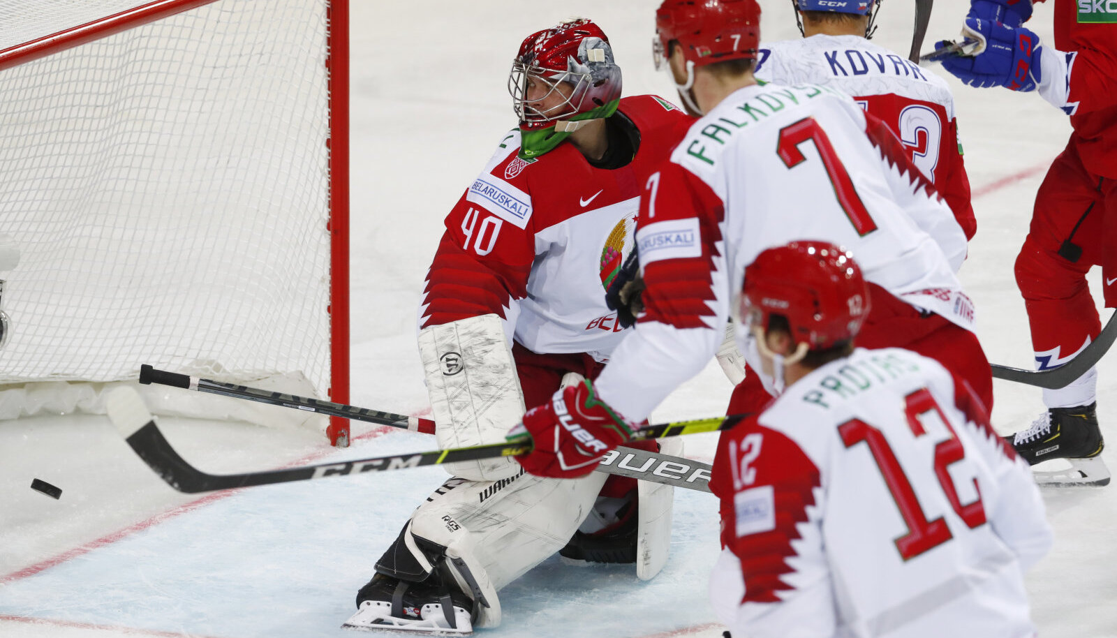 Момент матча Чехия - Беларусь