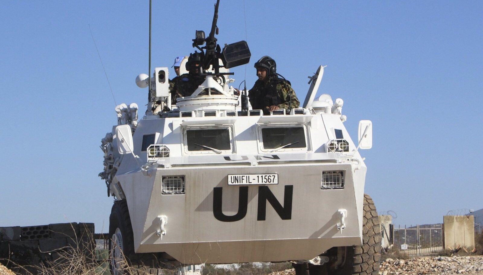 ÜRO kohalolek Liibanonis on tugevalt soomustatud.