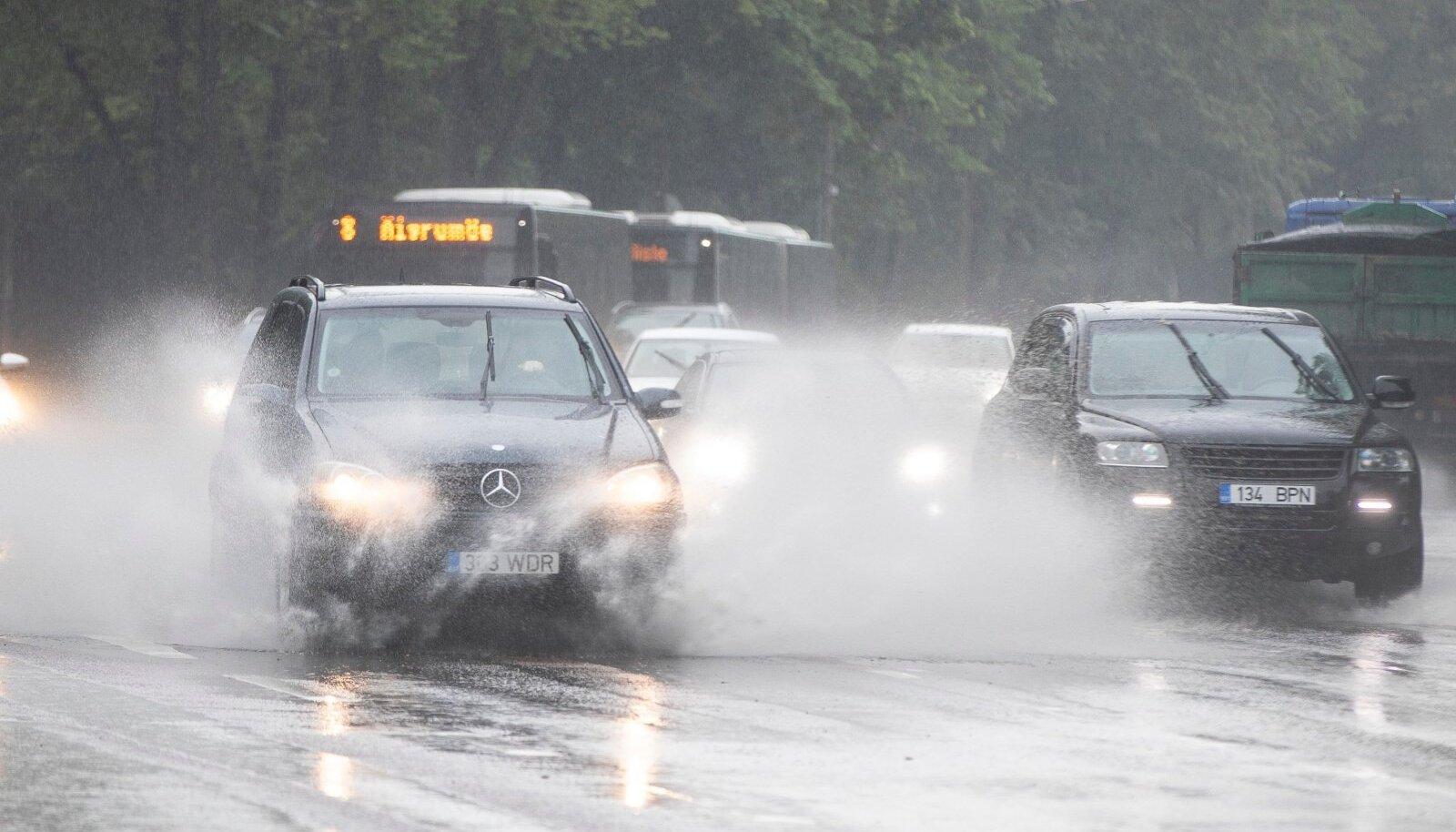 Vihm Tallinnas.