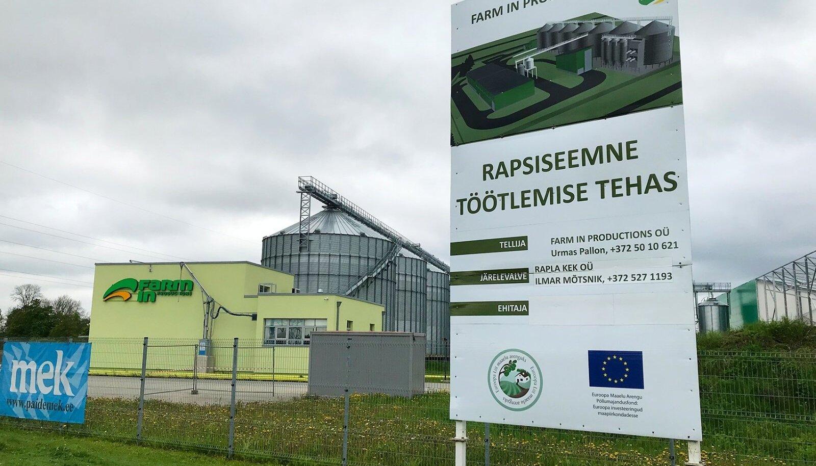 SIIA KERKIGU TEHAS! Farm In Productionsi tehase avamine lükkub muudkui edasi.