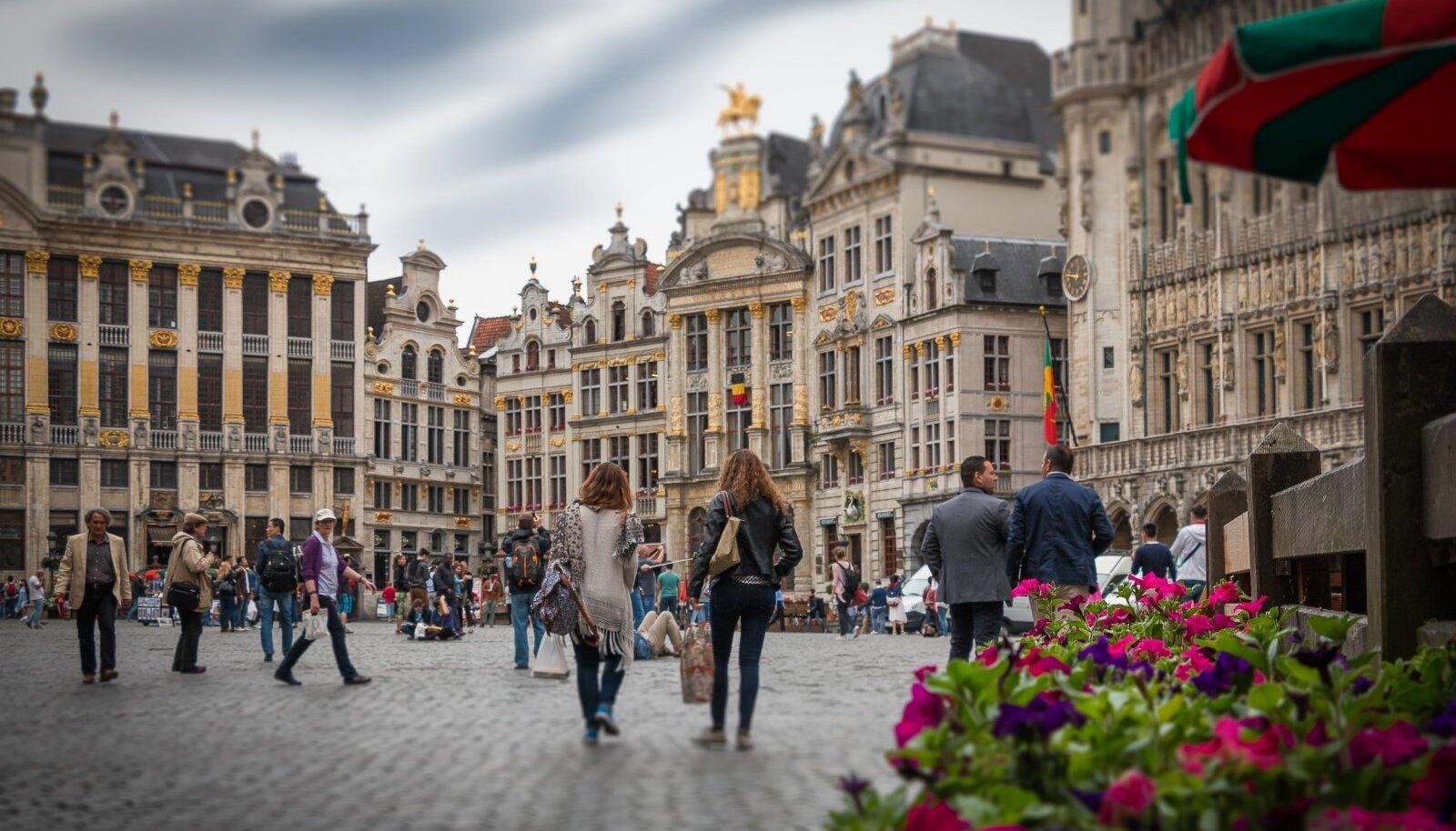 Brüsseli linnakaader. Foto loo juures illustreeriv