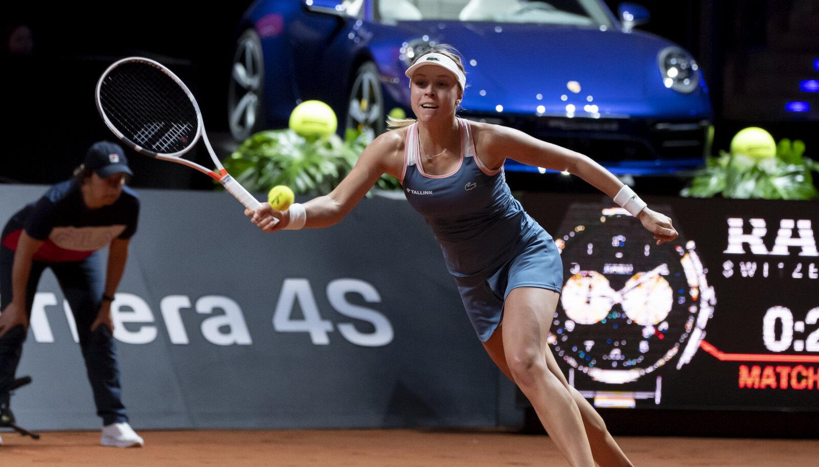 Anett Kontaveit 2019. aasta Stuttgarti finaalis Petra Kvitova vastu.
