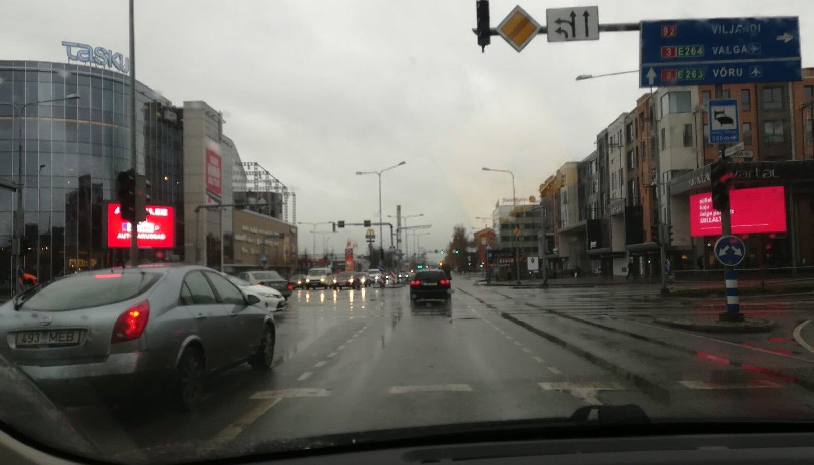 Foorid Tartu kesklinnas ei tööta