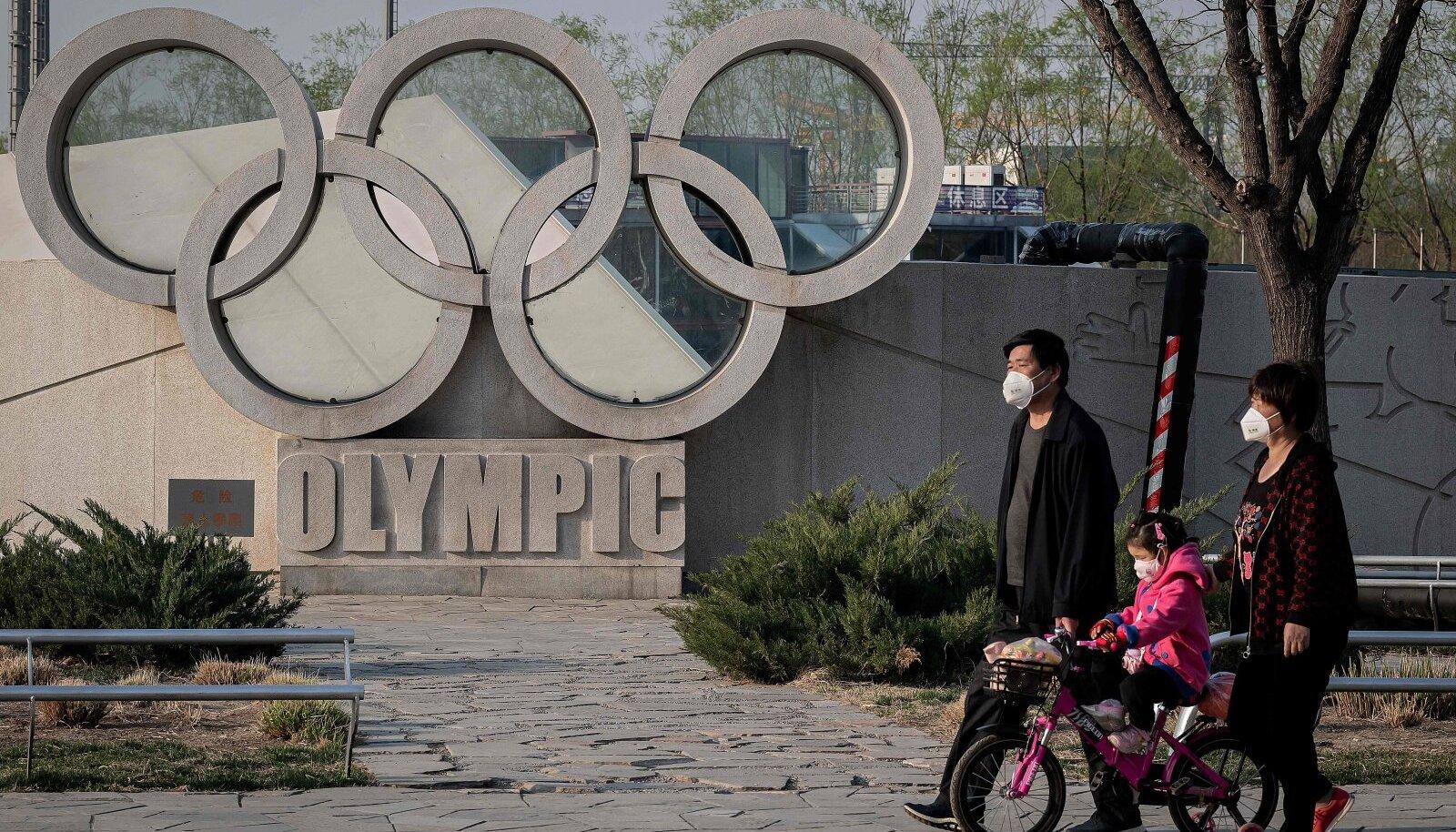 Tokyo elanikud ja olümpiarõngad