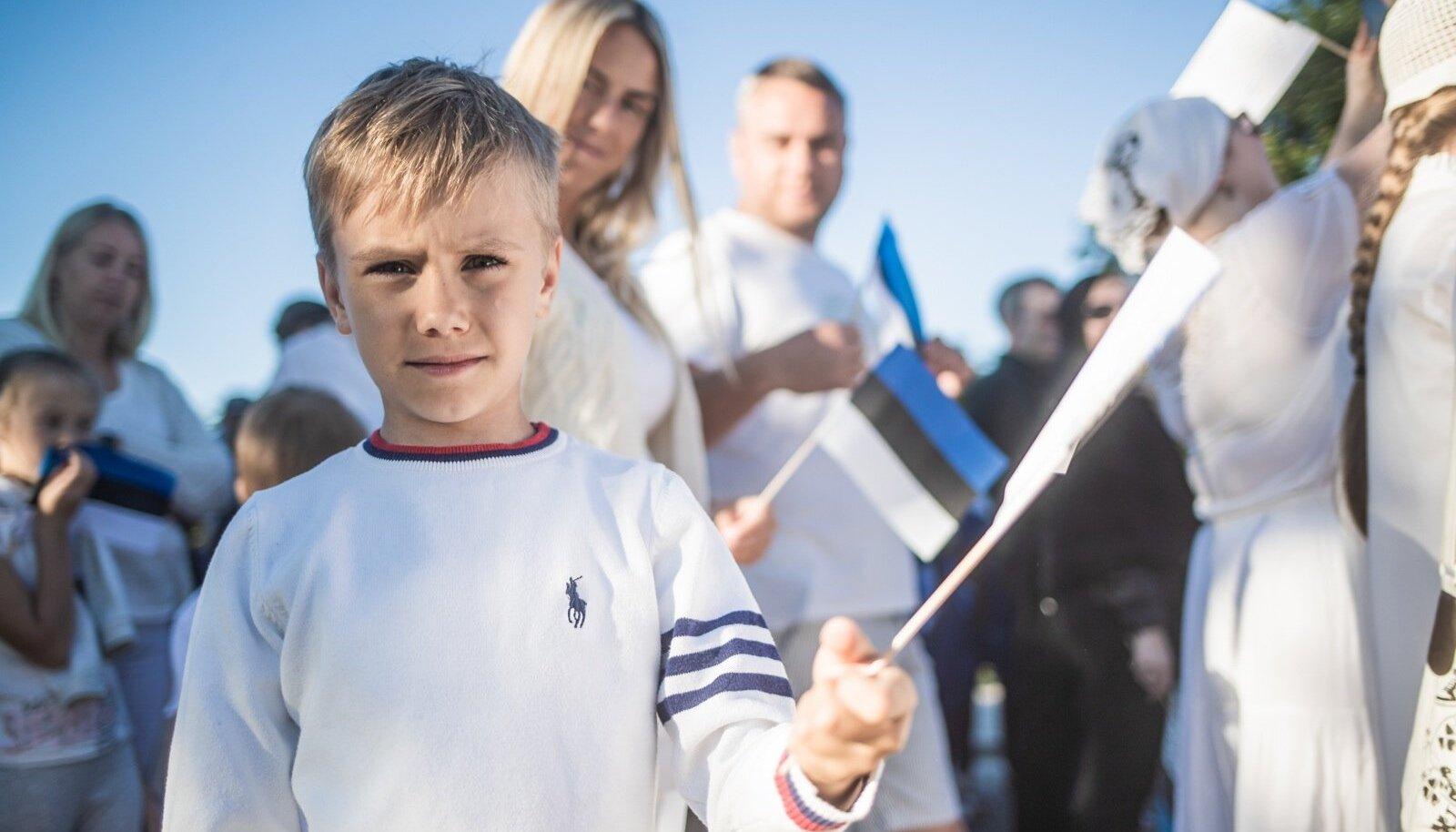 Eesti lipp 135 Põltsamaal. Foto on illustratiivne.