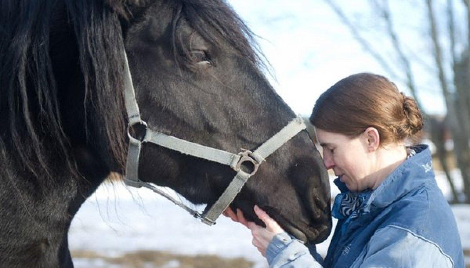 Ute Wohlrab on kahekümne kuue vana-tori hobuse perenaine.