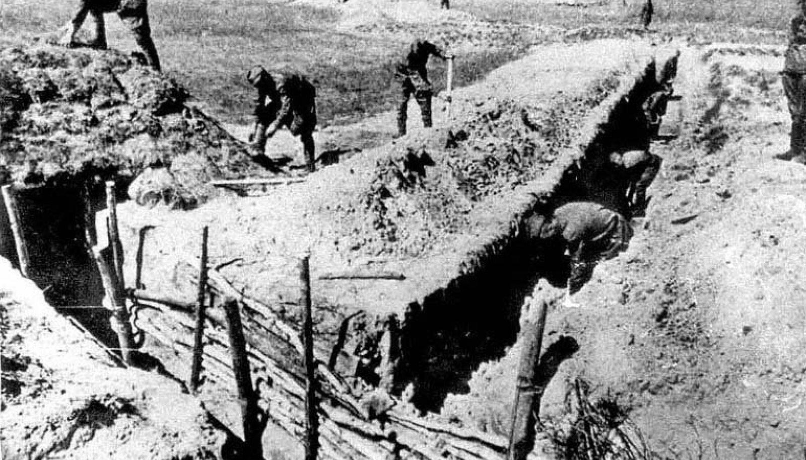 1941. aasta suvi: punaarmeelased kindlustavad oma positsioone.