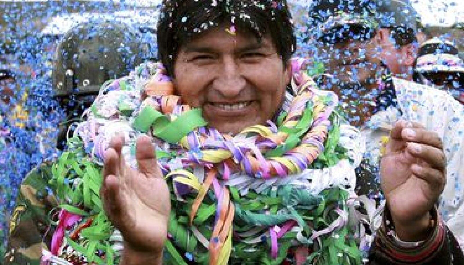 Boliivia president Evo Morales karnevalil kodulinn Orinocas.