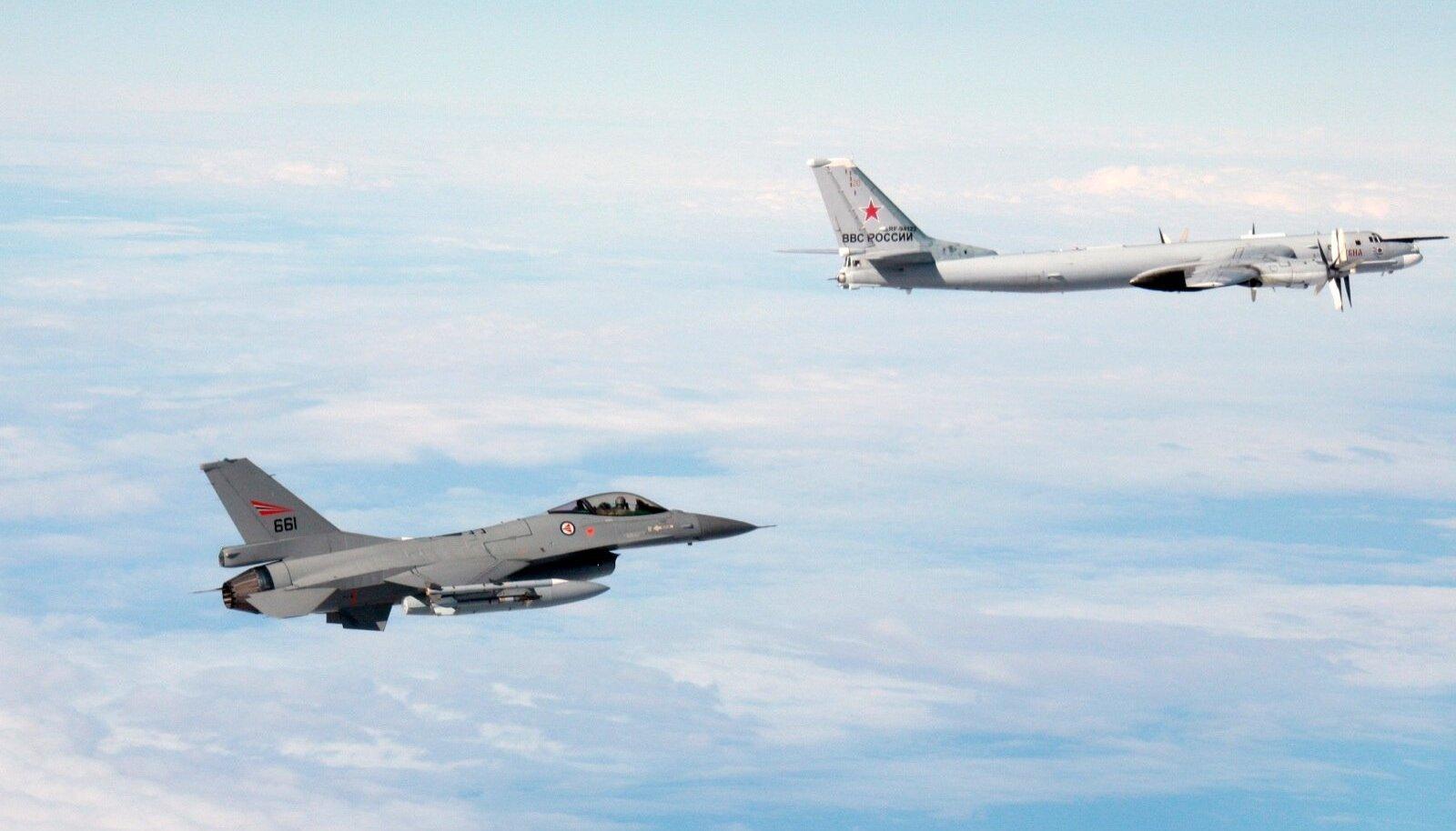 Norra F-16 ja Vene Tu-95