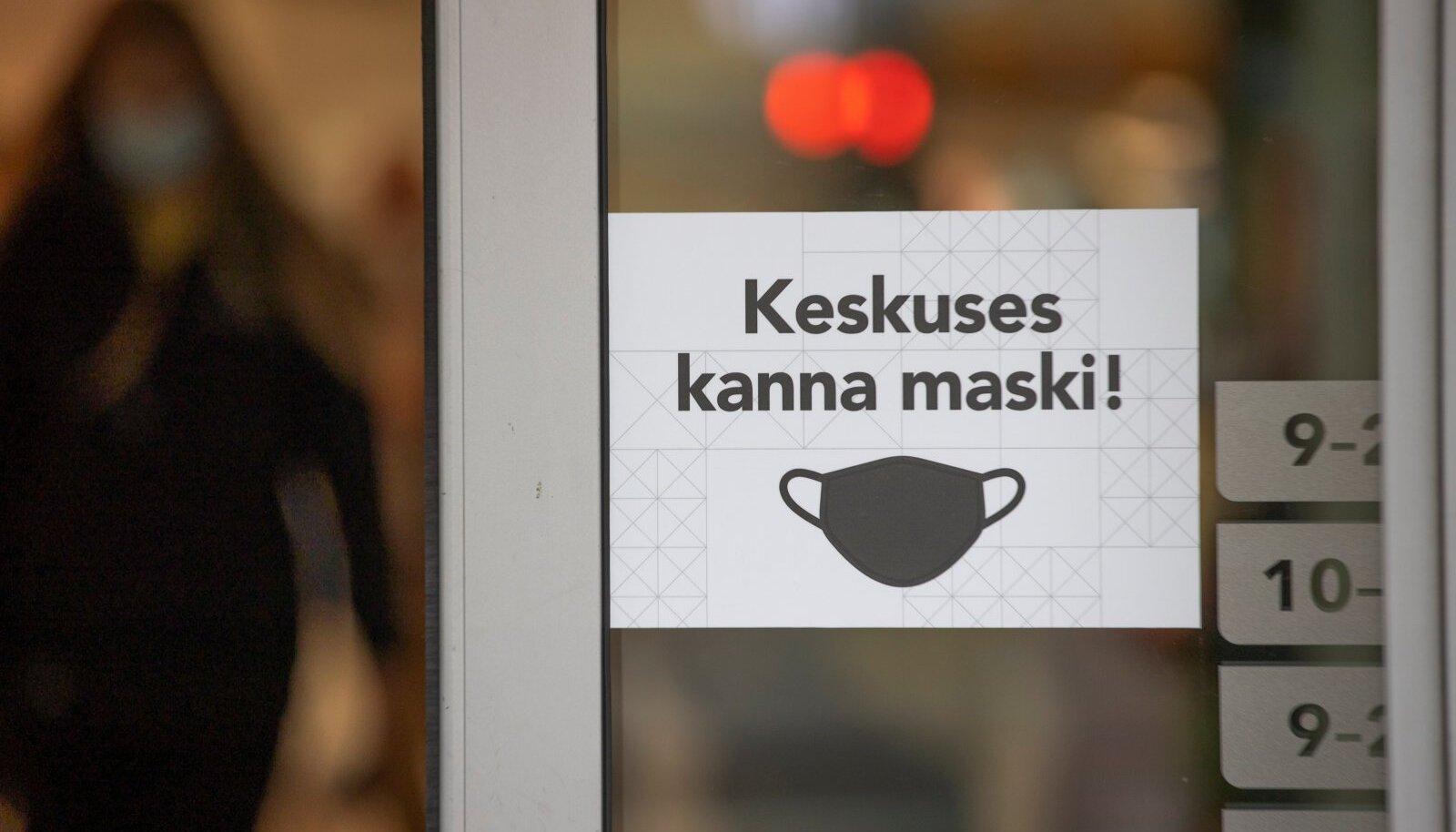 Praegu kehtib Eestis maskikohustus kauplustes ja ühistranspordis