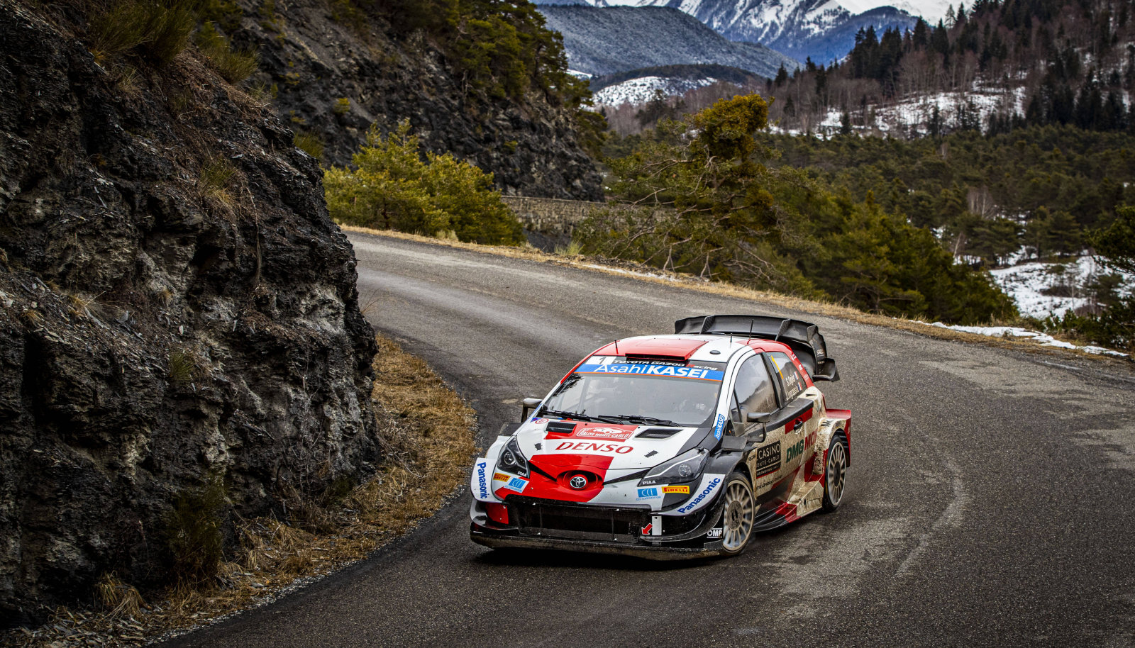 Sebastien Ogier Toyota Yaris WRC roolis.