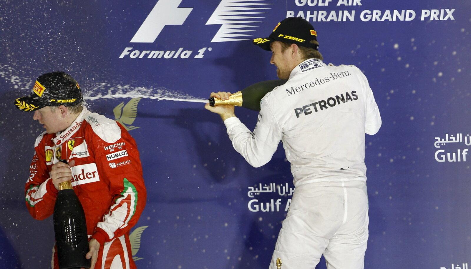 Nico Rosberg ja Kimi Räikkönen