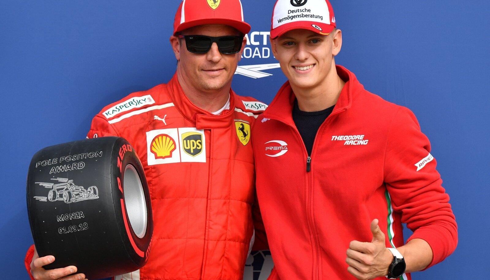 Kimi Räikkönen ja Mick Schumacher