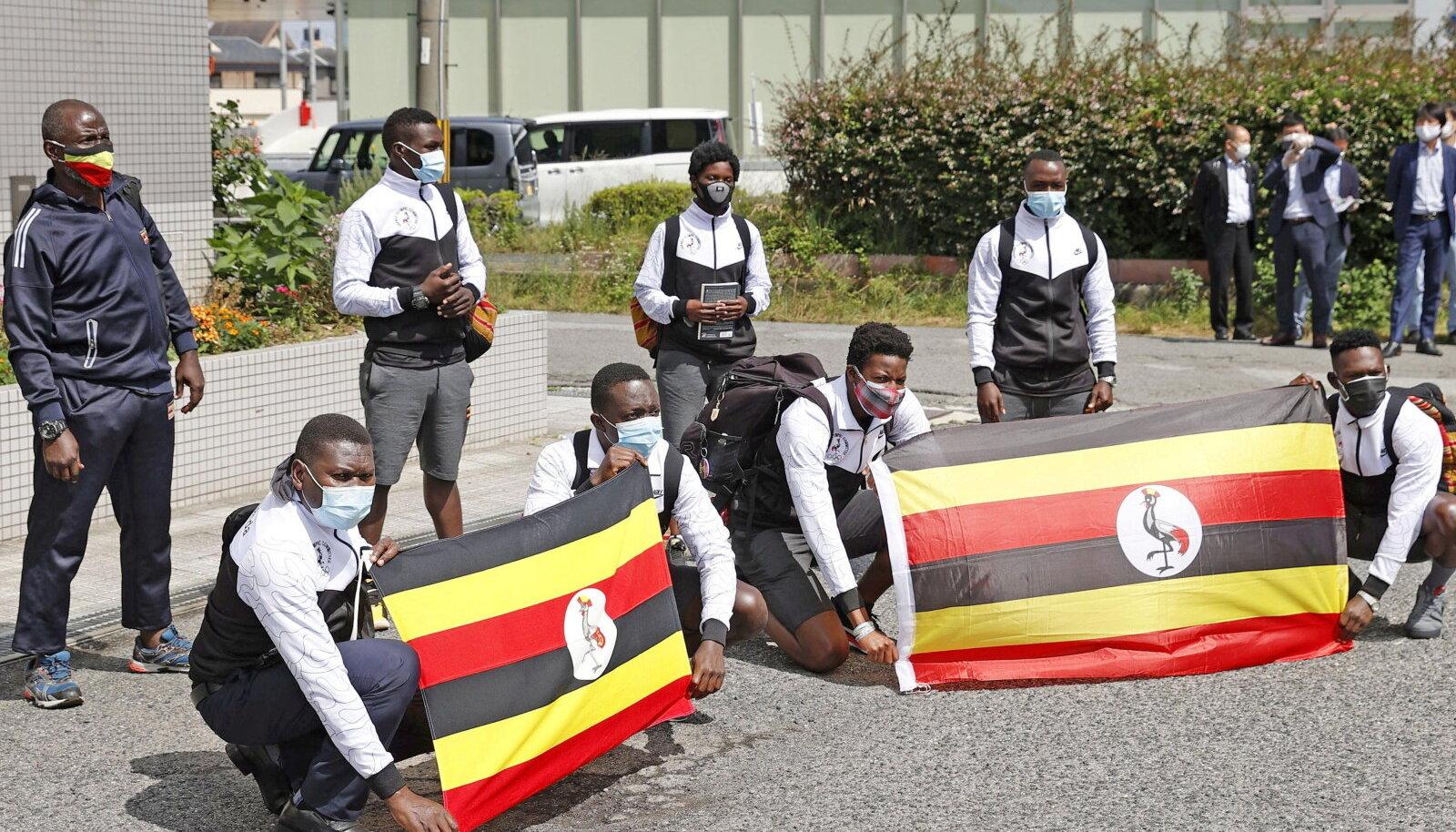 Uganda koondis Izumisano treeninglaagris