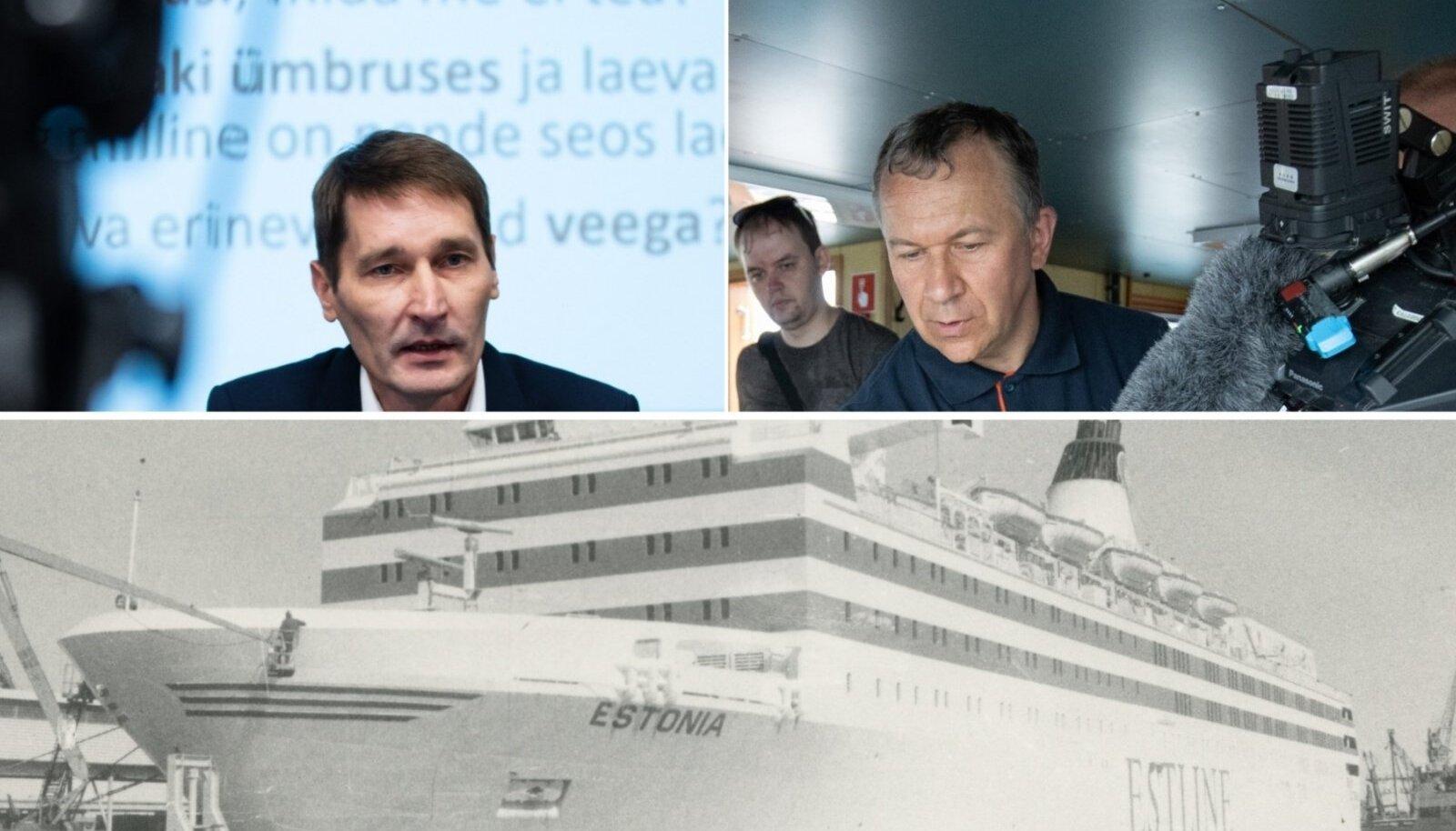 Margus Kurm, Rene Arikas, parvlaev Estonia
