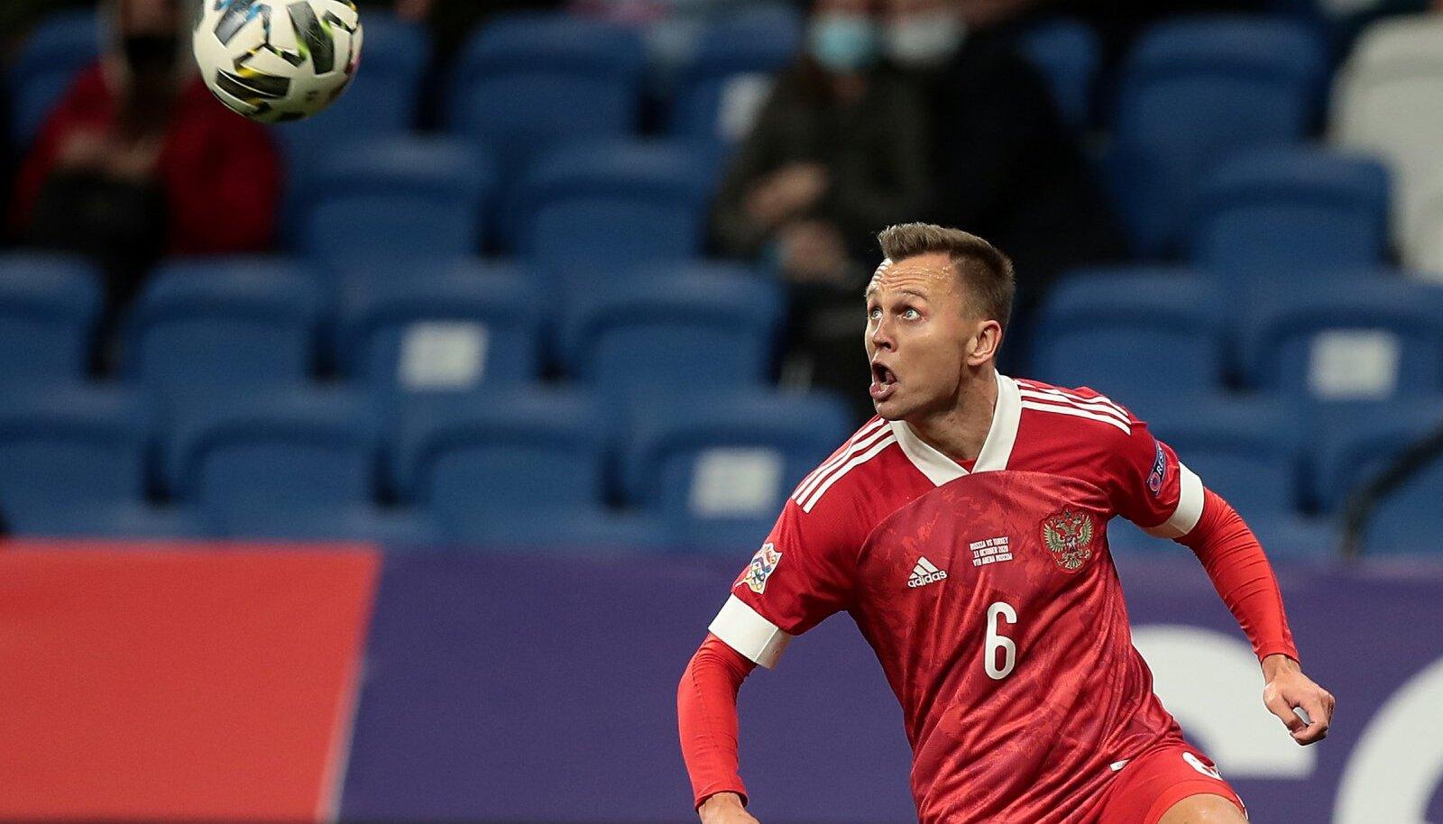 Денис Черышев, автор первого гола в ворота Турции