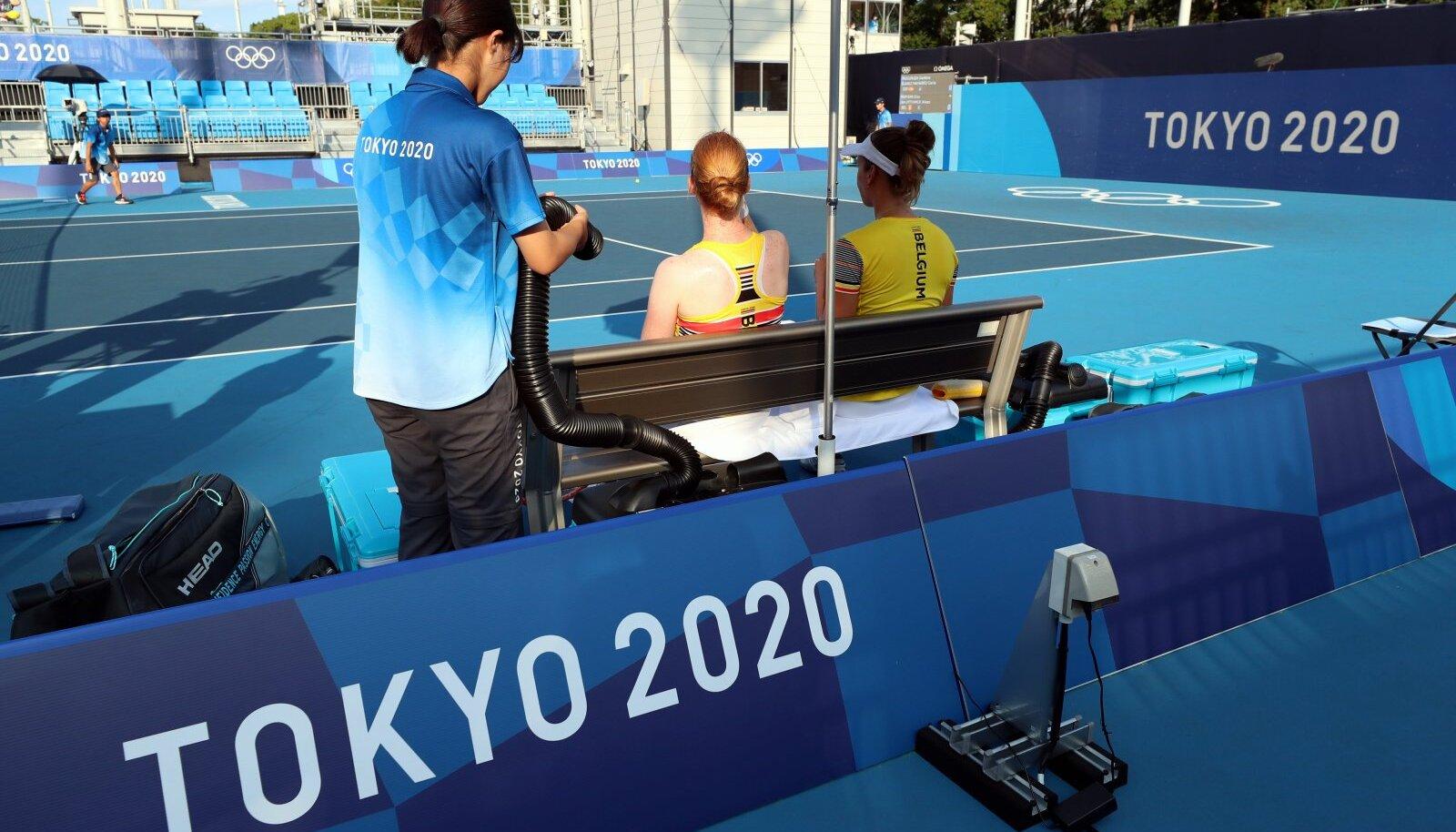 Tokyo olümpia vabatahtlik. Pilt on illustratiivne