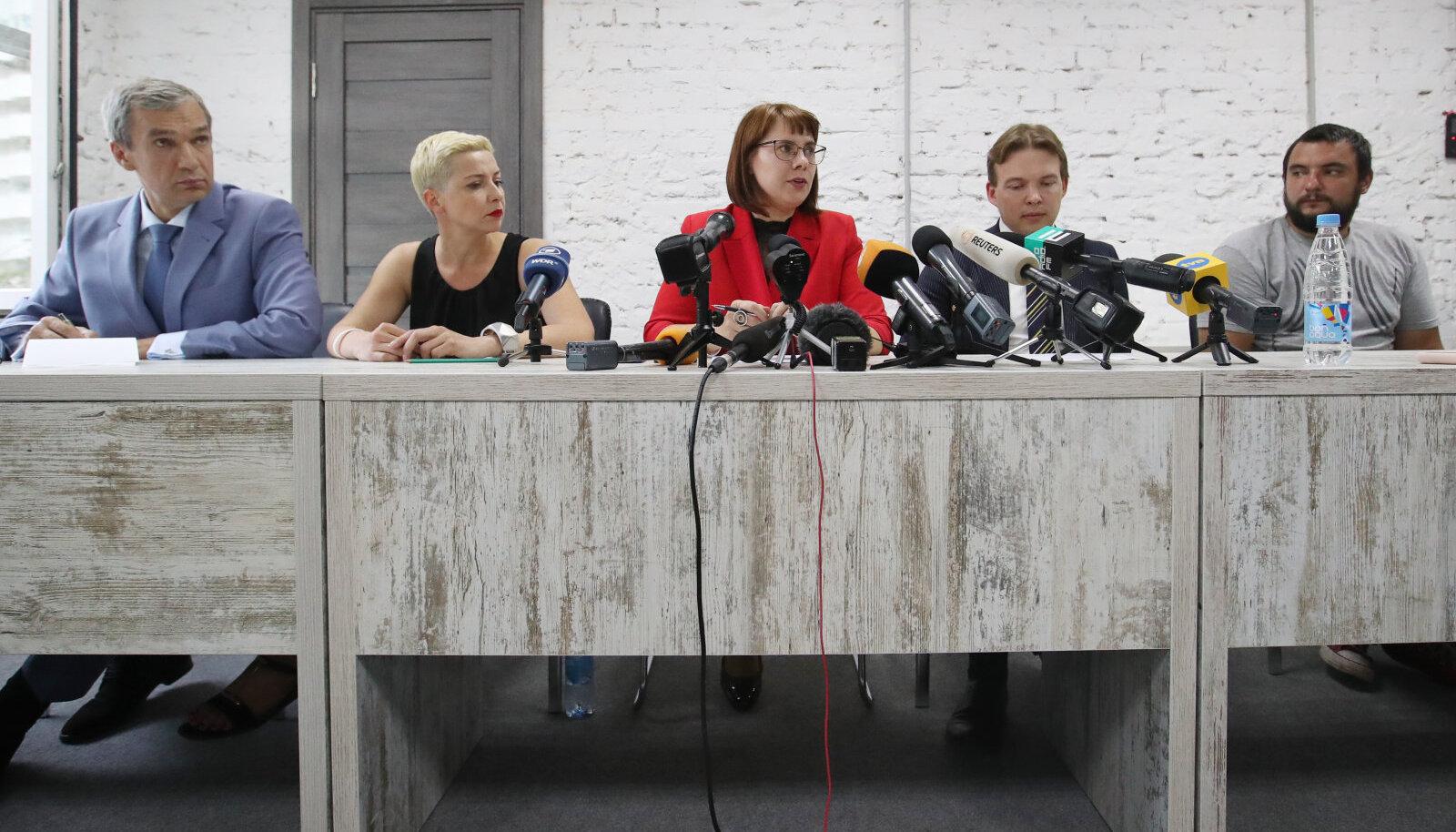 Valgevene koordinatsiooninõukogu pressikonverents