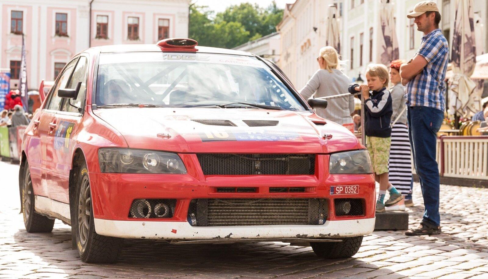 Tartu Rally 2017 avamine. Pilt on illustratiivne
