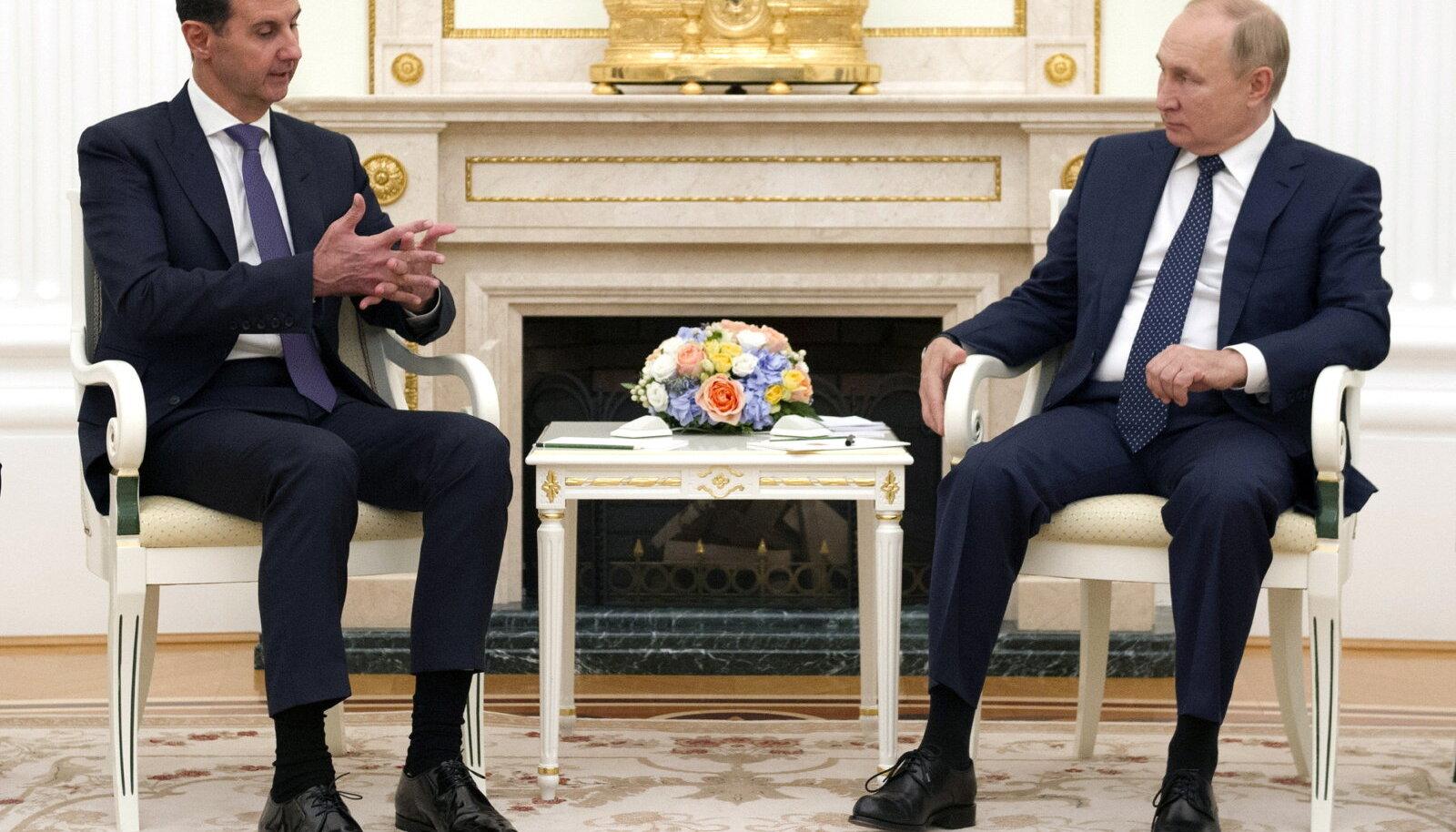 Vene riigipea Vladimir Putin kohtus eile Moskvas Süüria presidendi Bashar al-Assadiga.