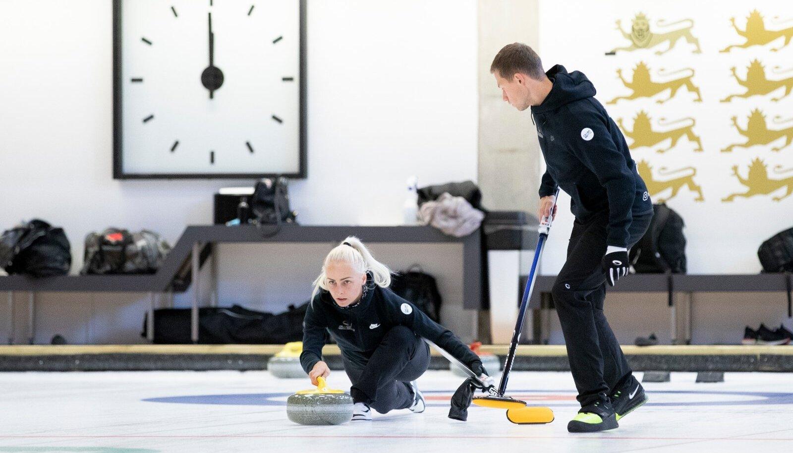 Curlingu segapaaride MK etapp Tondiraba jäähallis,  Marie Turmann, Harri Lill