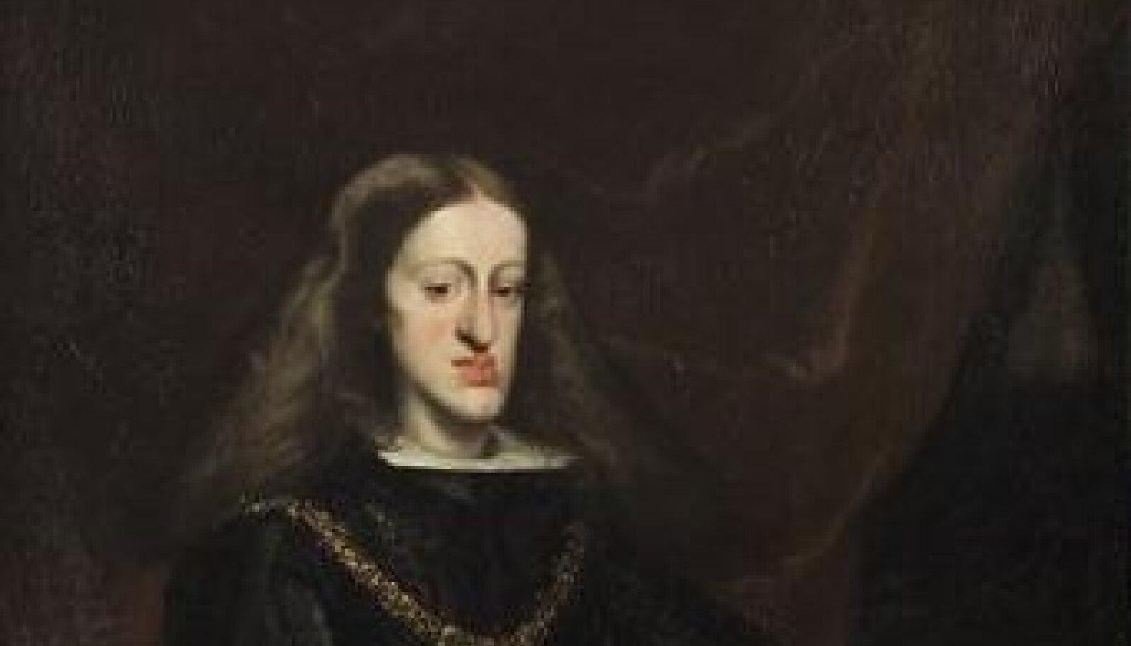 Hispaania kuningas Carlos II (1661 - 1700). Allikas: Wikipedia