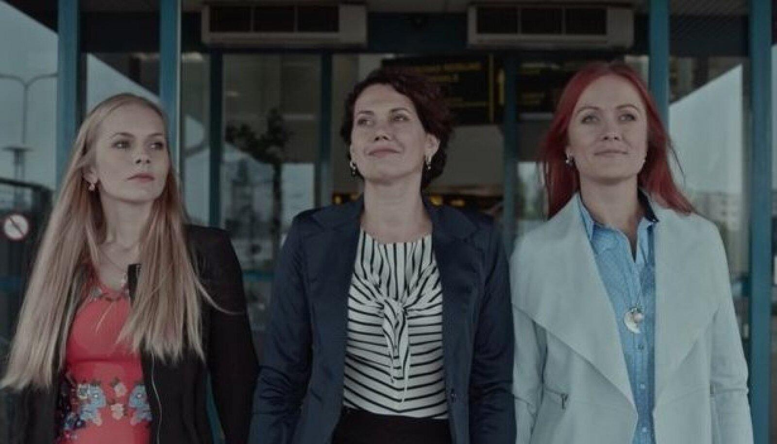 Kertu (Liis Haab), Mari (Elisabet Reinsalu) ja Piret (Inga Lunge) tegid esimese sammu kinolinale.