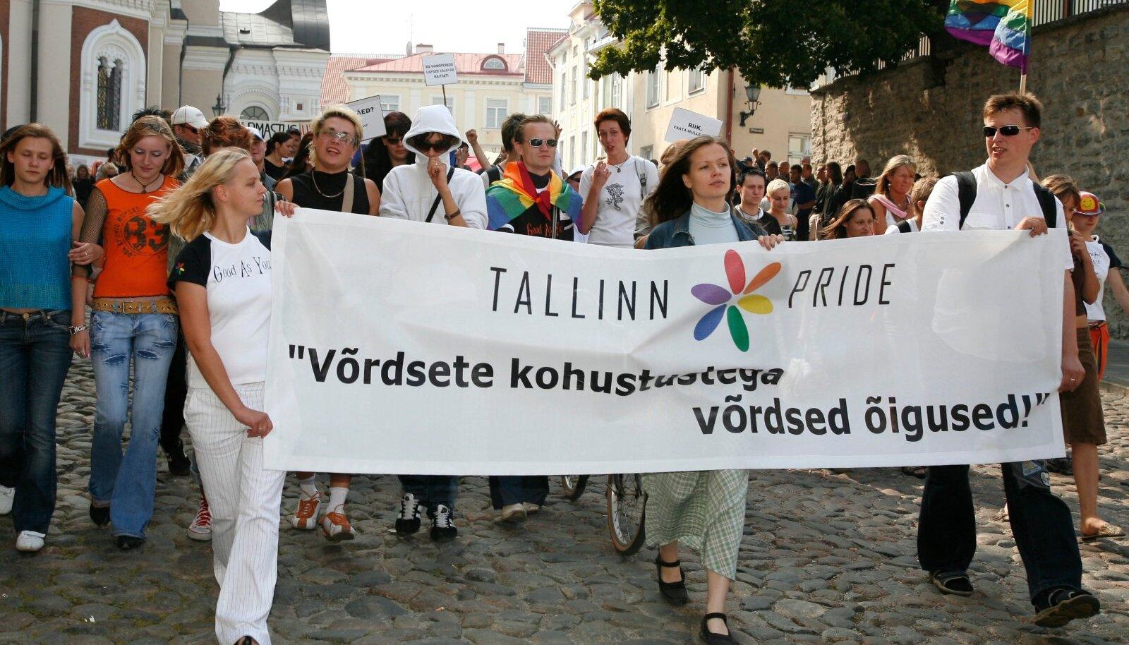 Meenutus 2006. aasta homoparaadist Tallinnas