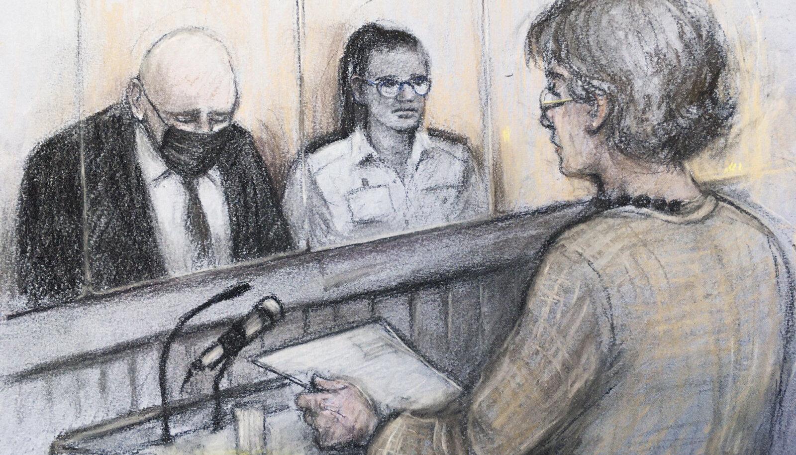 Wayne Couzens (vasakul) võttis talle pandud kuriteod omaks.