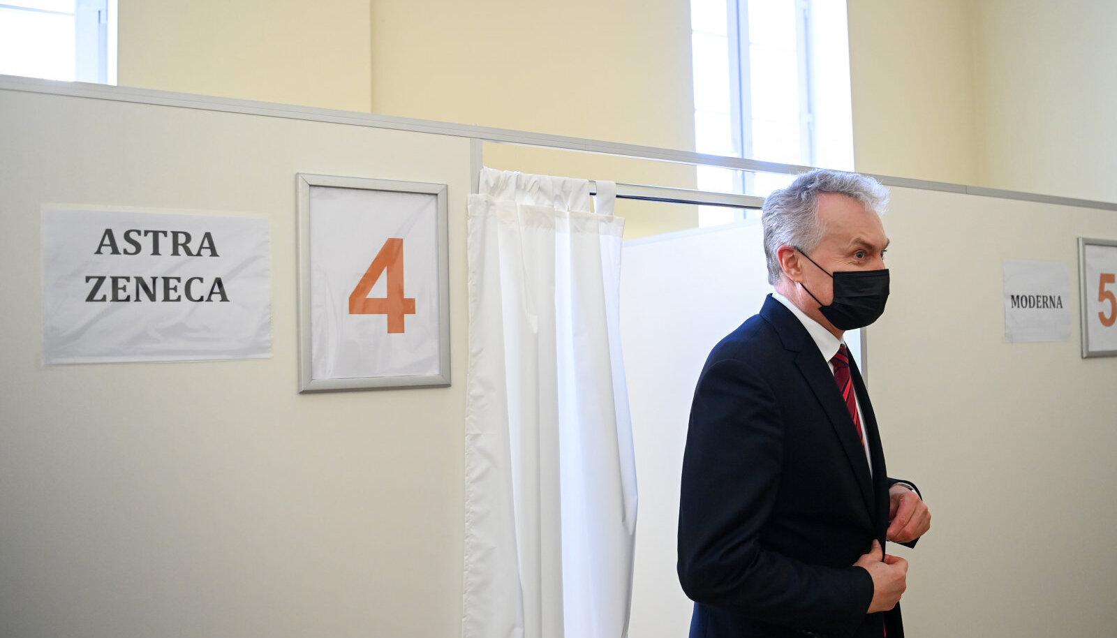 Leedu president Gitanas Nausėda käis täna vaktsineerimas.