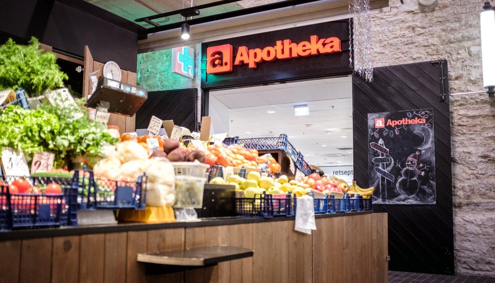 Apotheka apteek Balti jaama turul. Abi on käeulatuses!