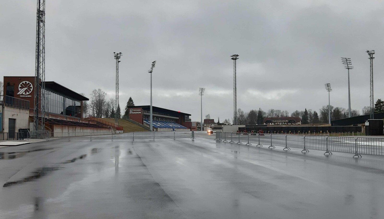 Tehvandi staadion 31. jaanuaril